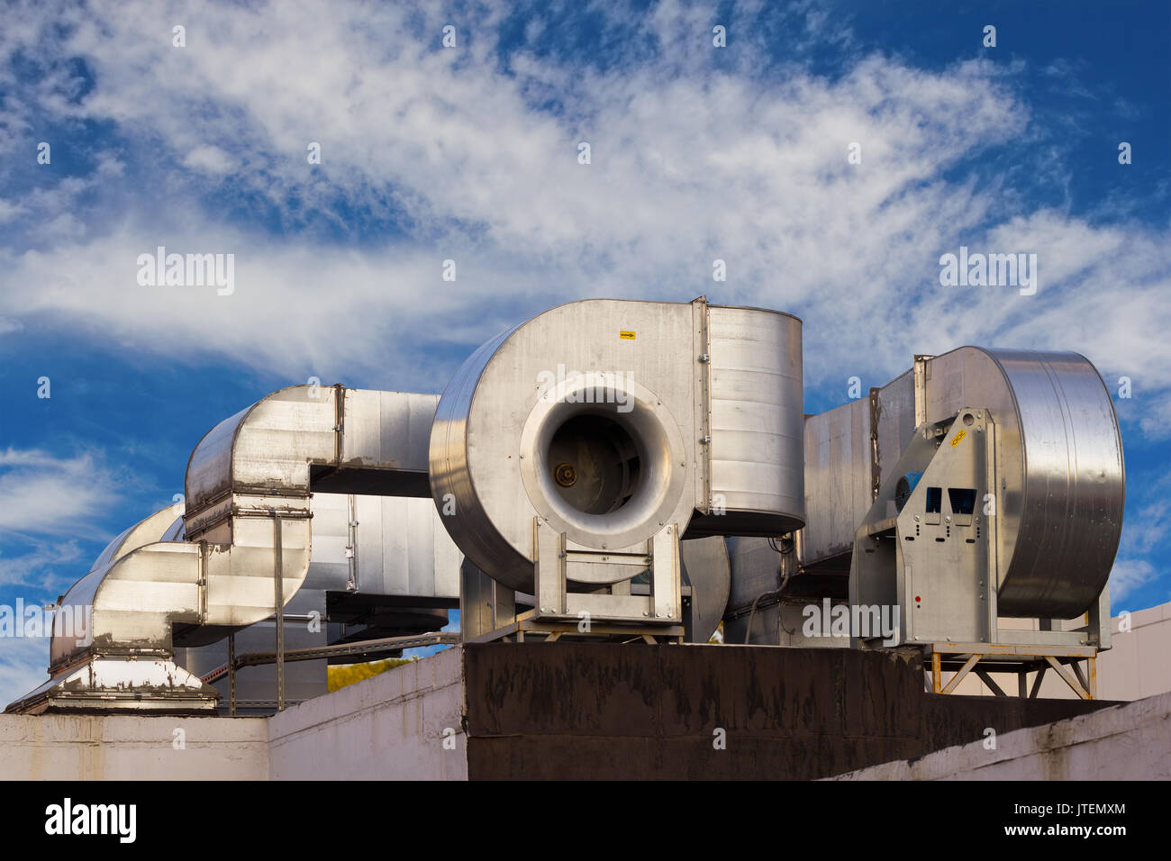 Industrial Air Systems : Rooftop air conditioner stock photos