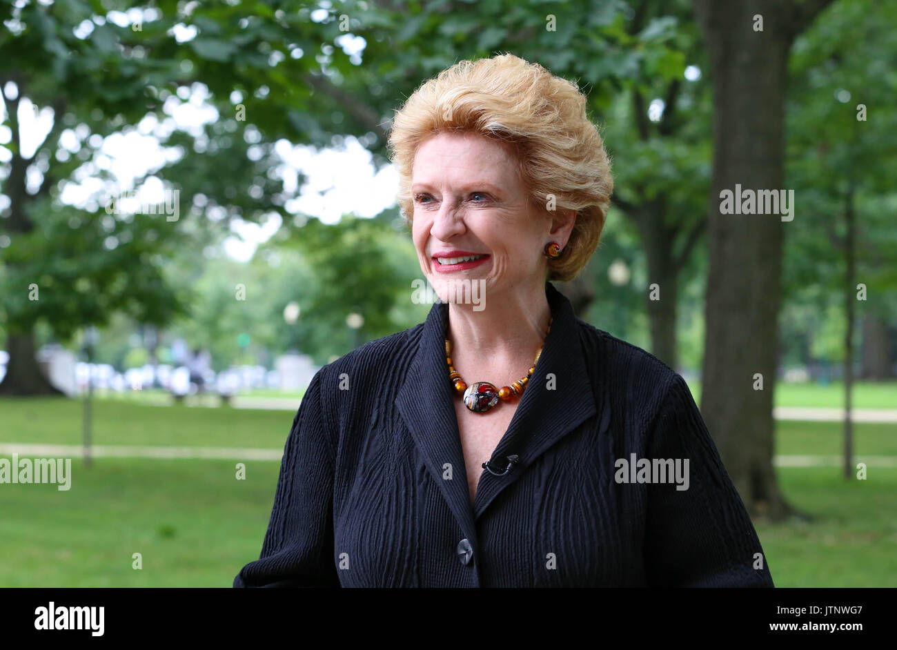 u s senator debbie stabenow of michigan during a democratic event on healthcare outside the u s capitol