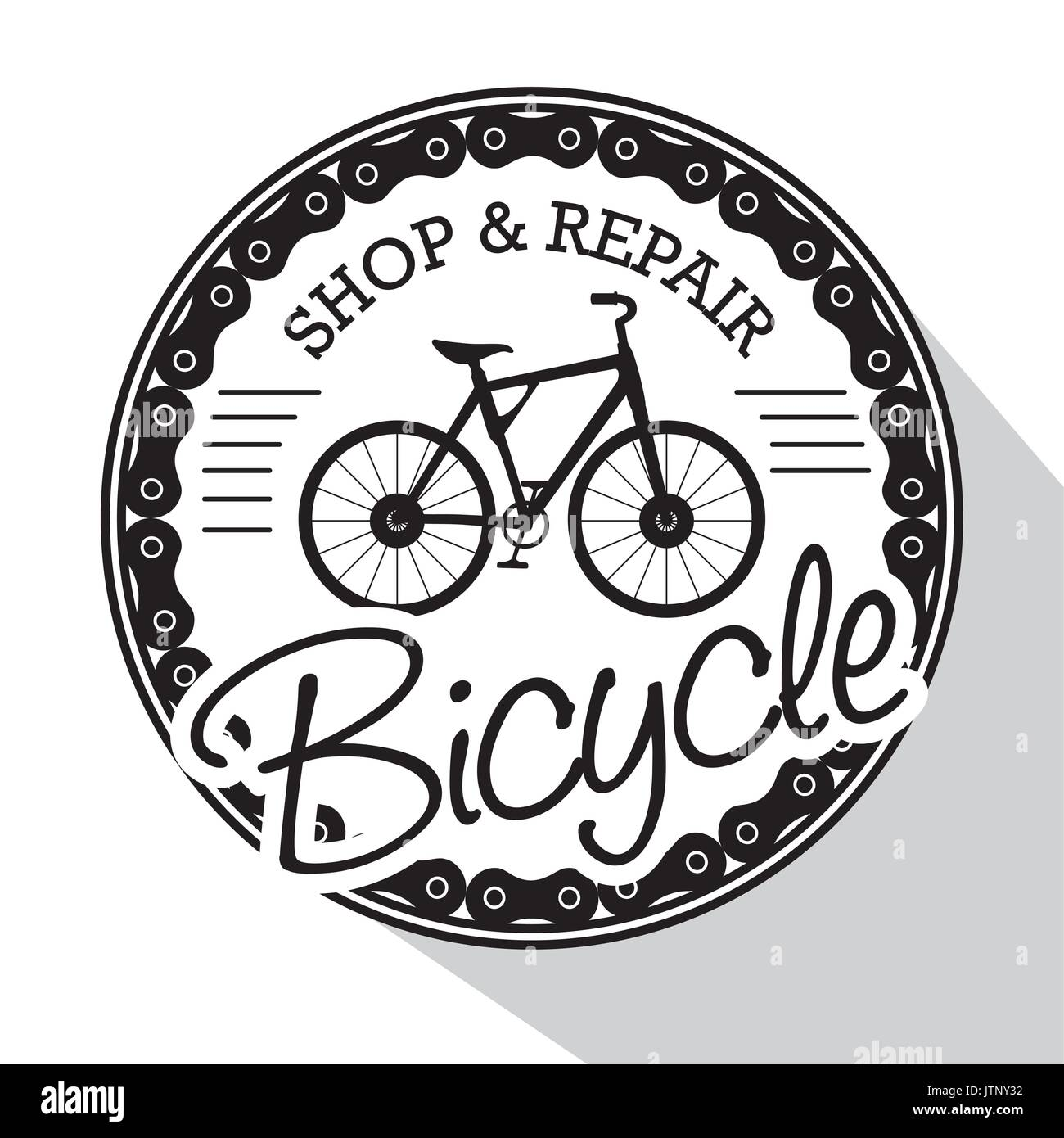 Modern Bike Shop Logo Vector Illustration Graphic Design Stock