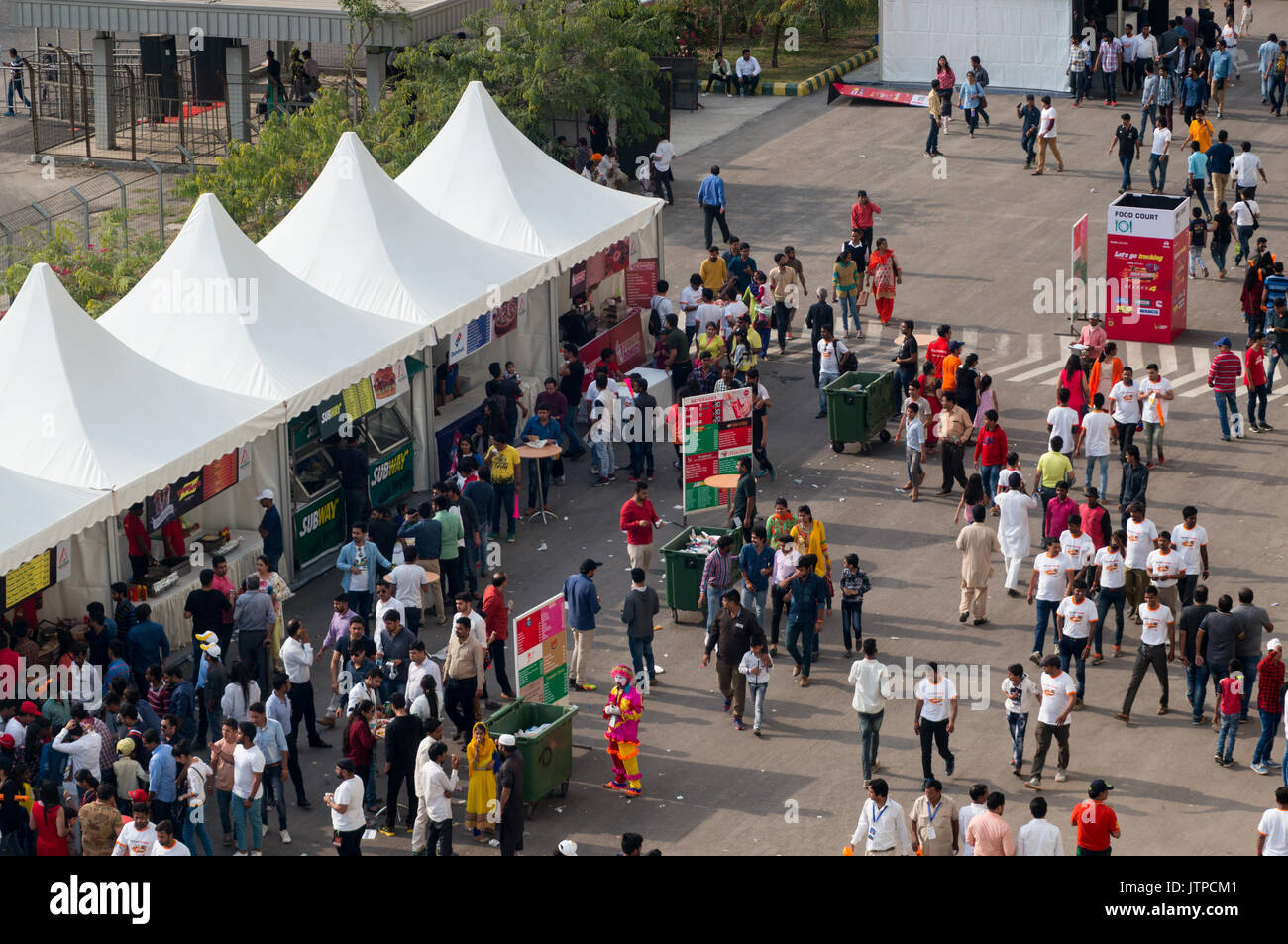 Indian crowd gathering near conical tents & Indian crowd gathering near conical tents Stock Photo Royalty ...