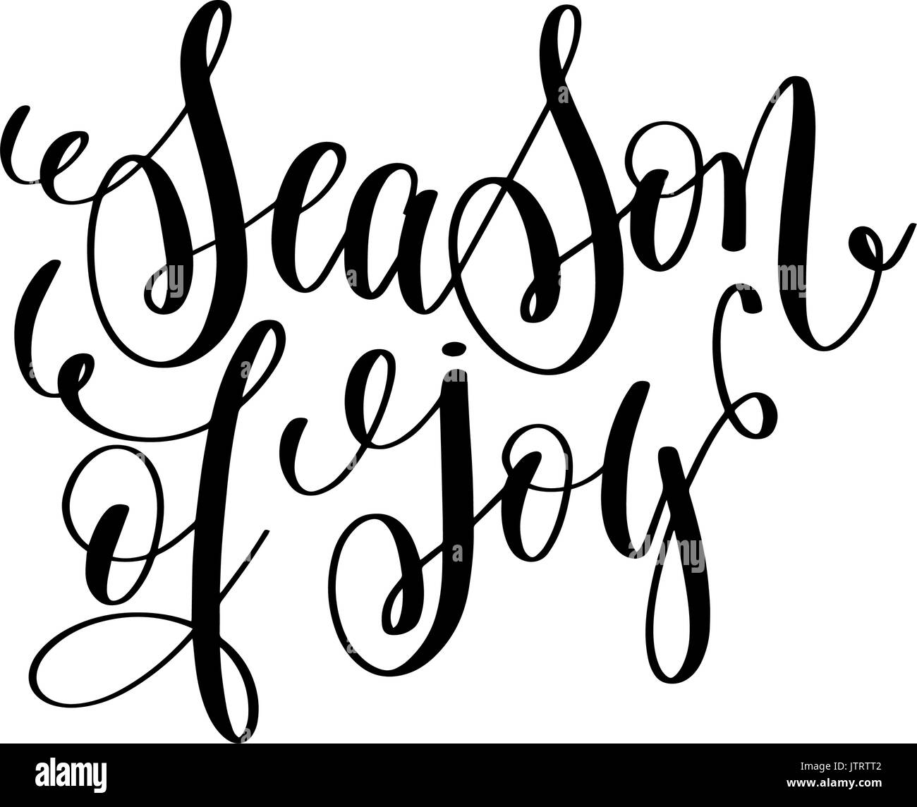 Season Of Joy Hand Lettering Positive Quote To Christmas Holiday