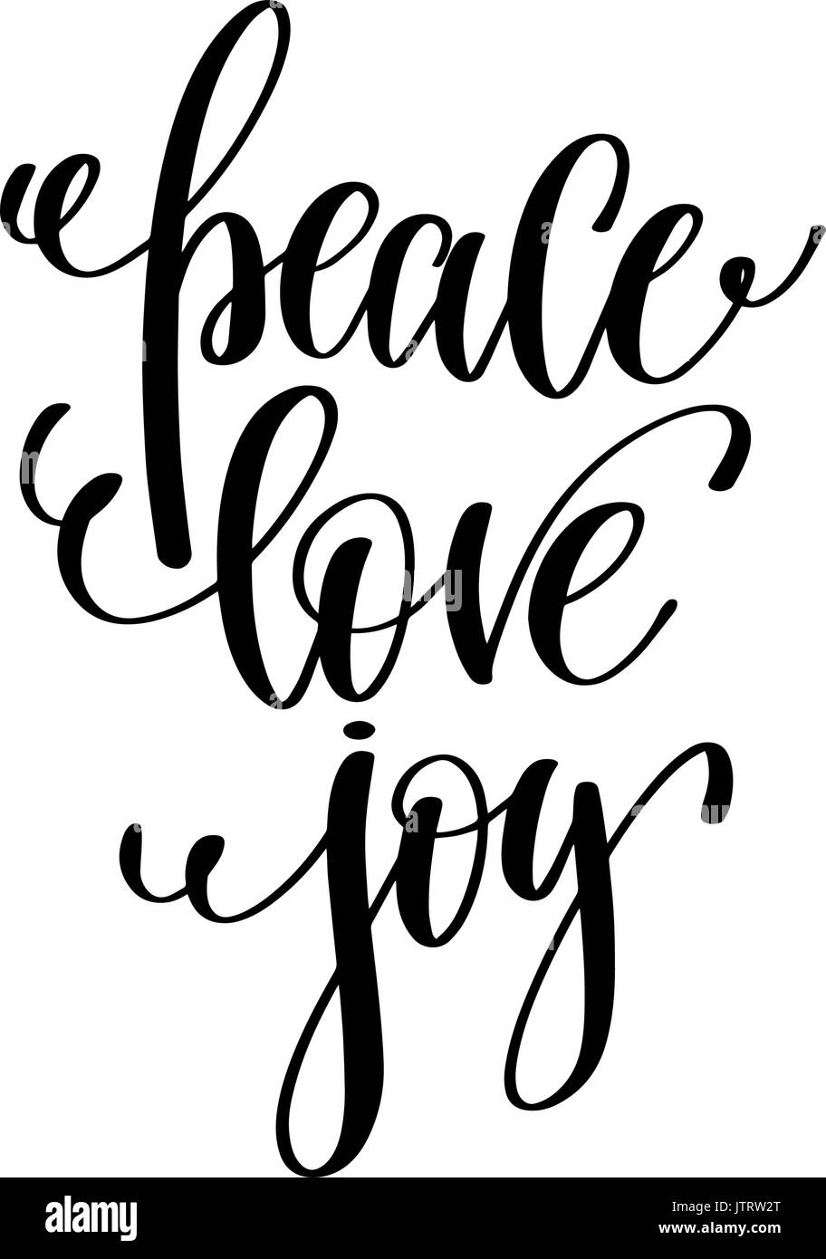 Peace Love Joy Quotes Magnificent Peace Love Joy Hand Lettering Positive Quote To Christmas Stock