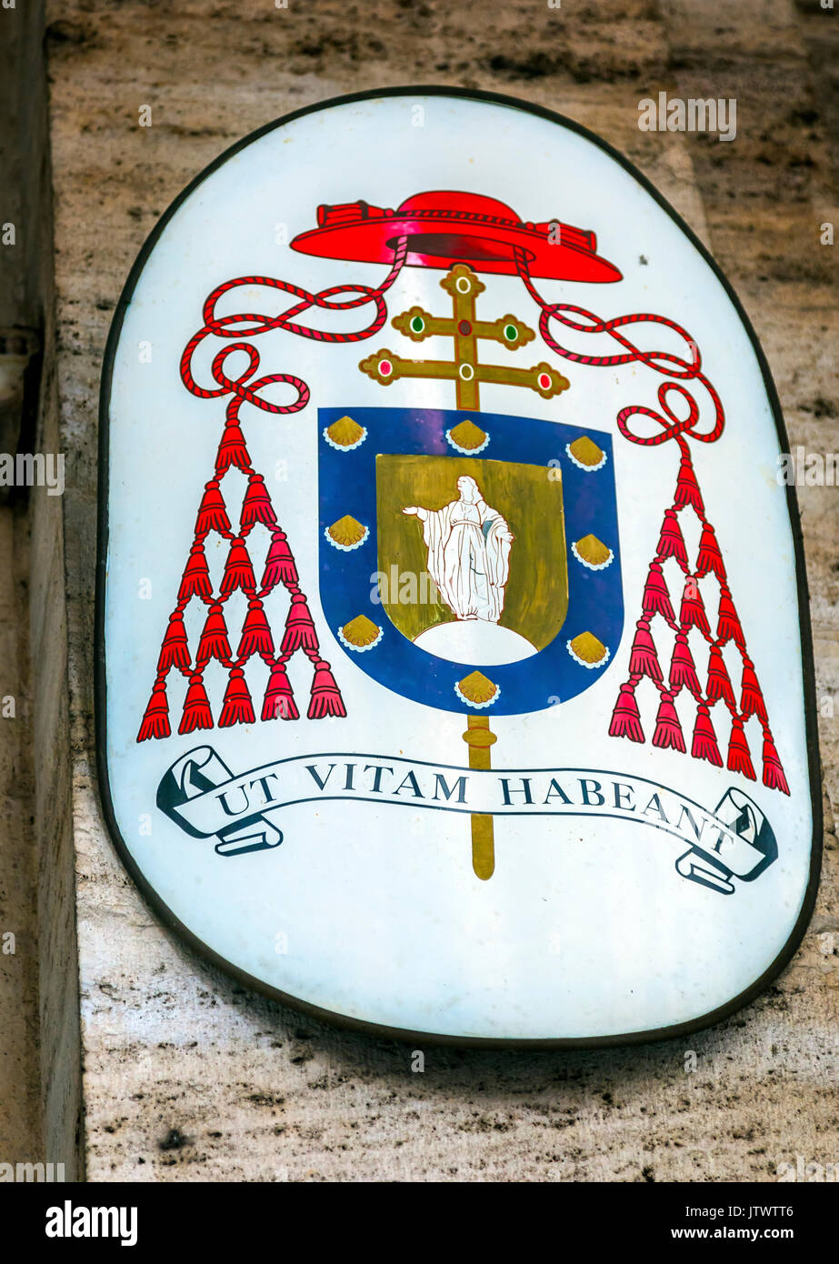 Cardinal hat stock photos cardinal hat stock images alamy red hat cardinal symbol ss vincenzo e anastasio church basilica dome trevi rome italy vincenzo buycottarizona Images