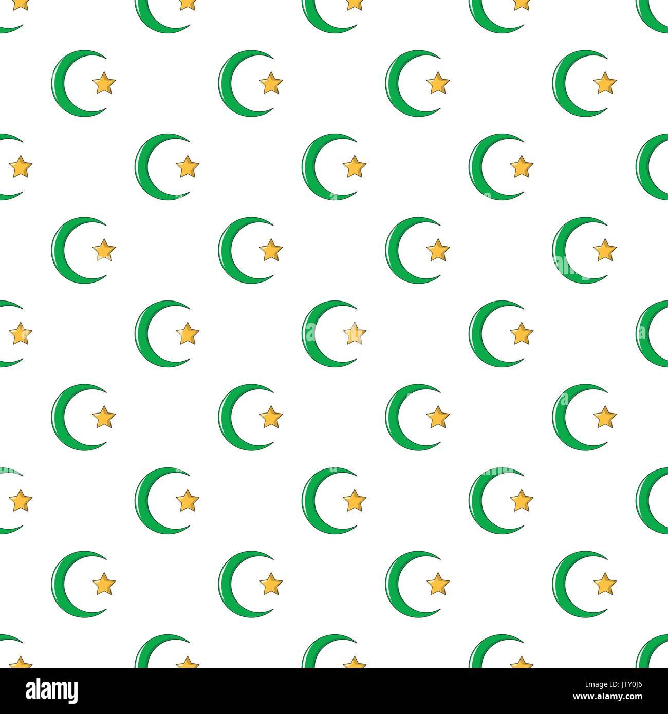 Starcrescent symbol of islam pattern seamless stock vector art starcrescent symbol of islam pattern seamless buycottarizona Gallery