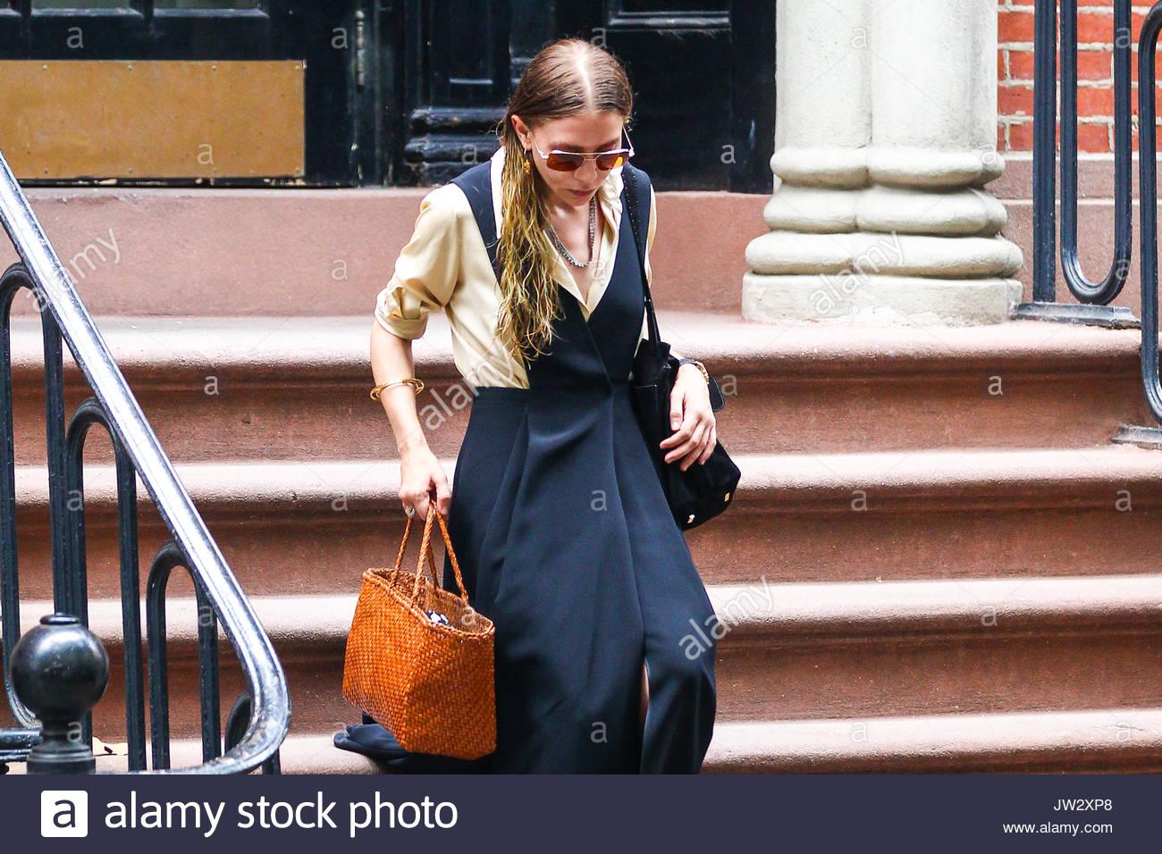 Ashley Olsen is seen leaving her apartment in NYC. Ashley Olsen ...