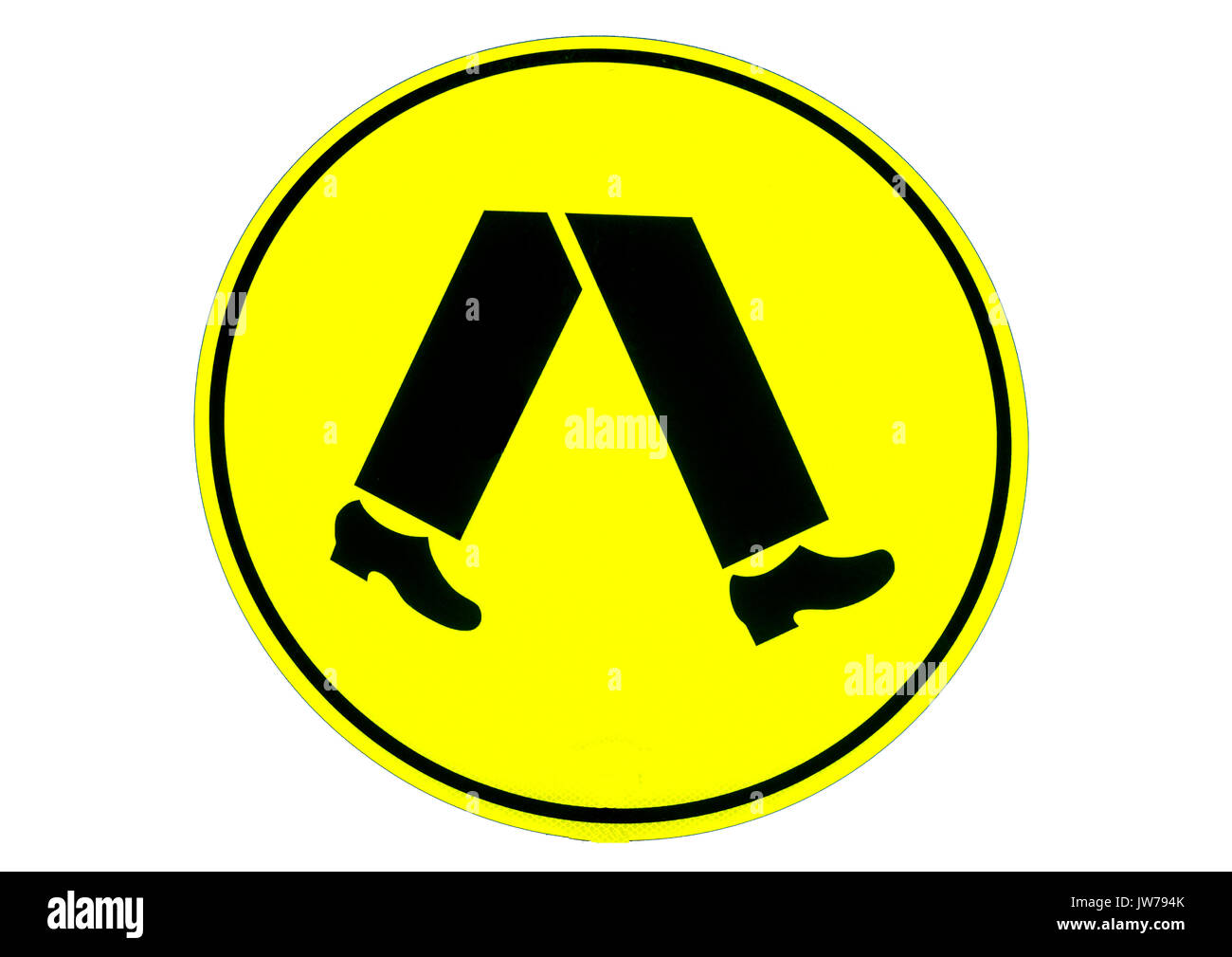 Road signs cut out stock images pictures alamy road warning sign pedestrians crossing stock image biocorpaavc Choice Image