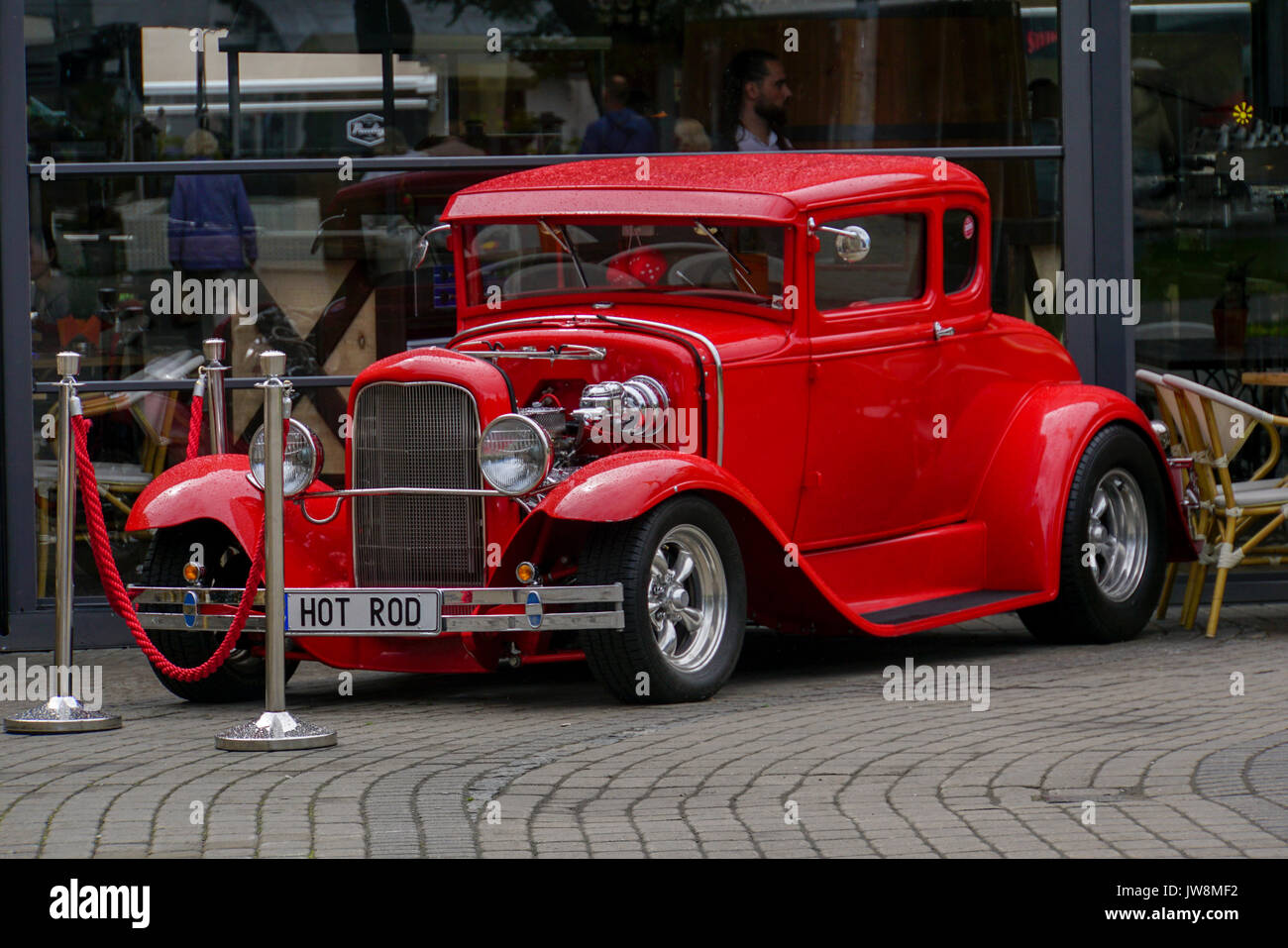 Old Ford Coupe Hot Rod Classic Car on display in Riga, Latvia ...