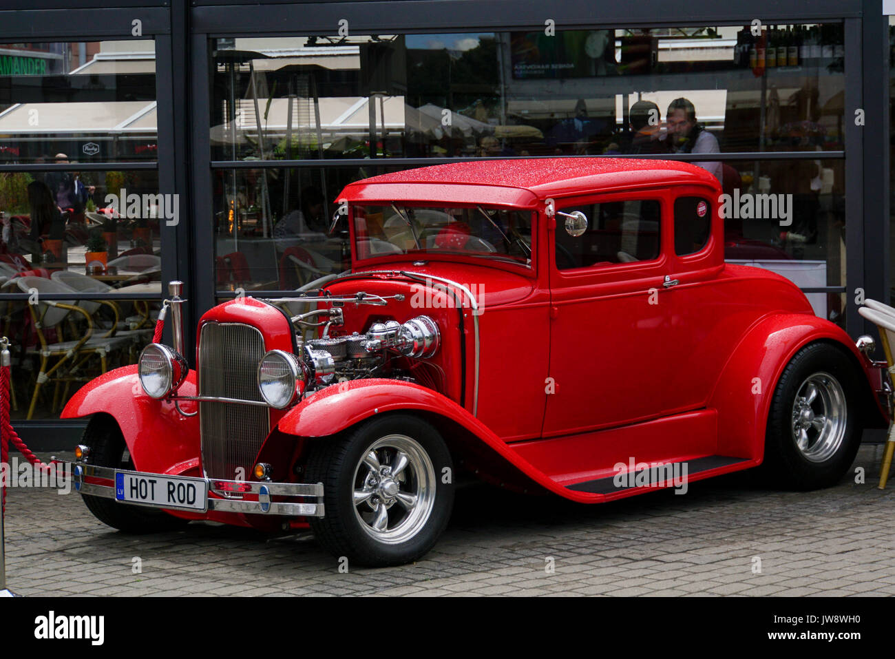 Old Ford Coupe Hot Rod Classic Car on display in Riga, Latvia Stock ...
