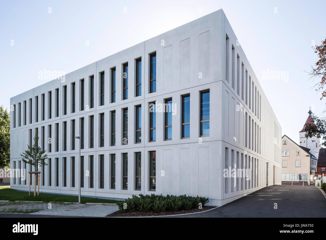 Architekten Biberach corner elevation from south finanzamt finance office stock