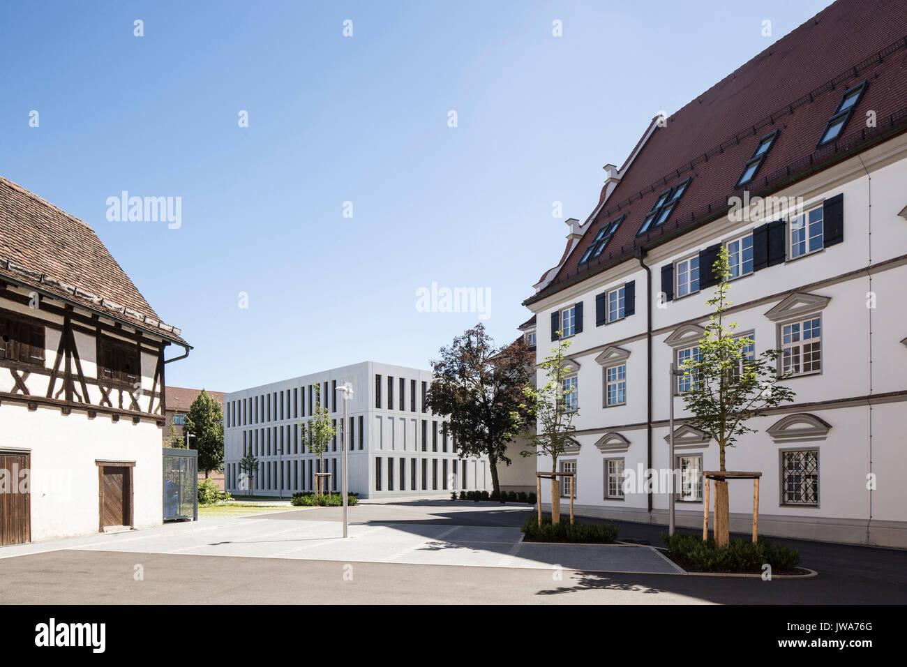 Architekten Biberach distant view with magistrate s court finanzamt finance office