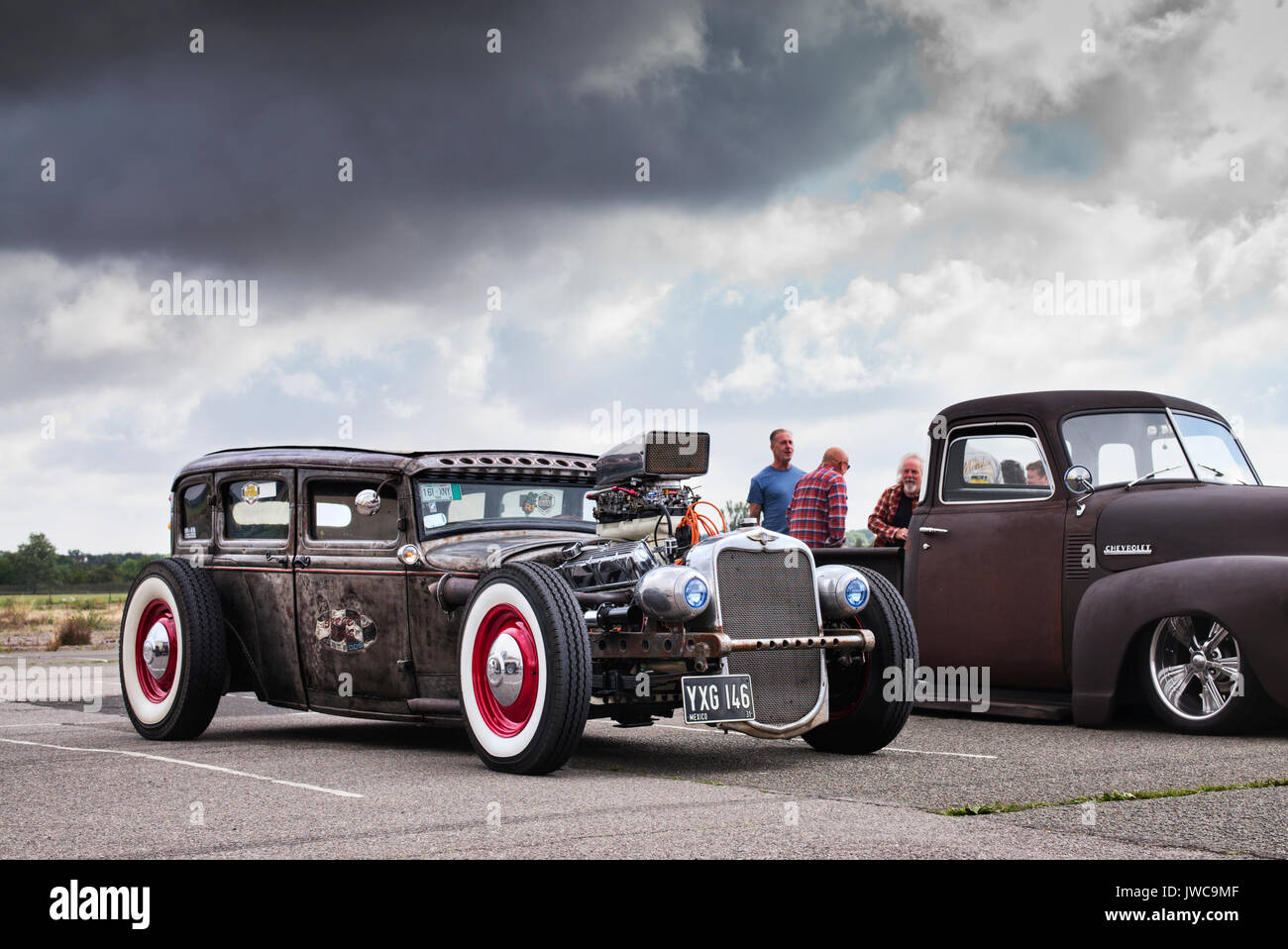 1931 Ford Chopped and Dropped Rat Rod custom car at an America car ...