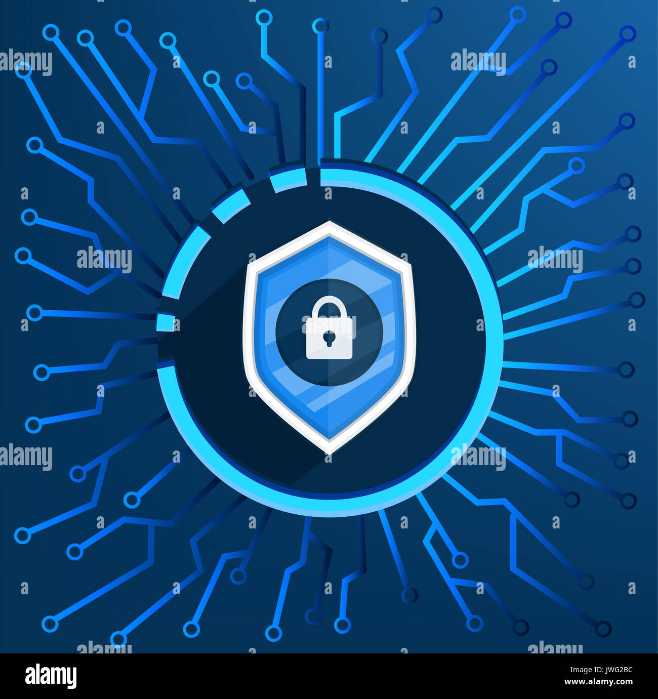 background cyber security vector illustration for website stock