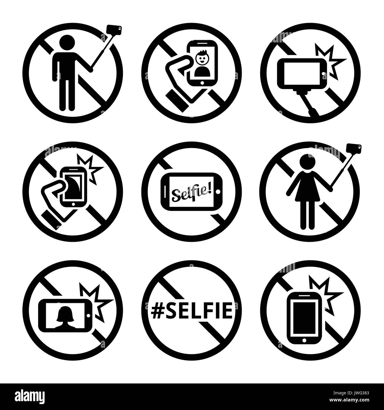 No Photography Camera Prohibited Symbol Stock Photos No - Noselfies 9 places where selfies are banned