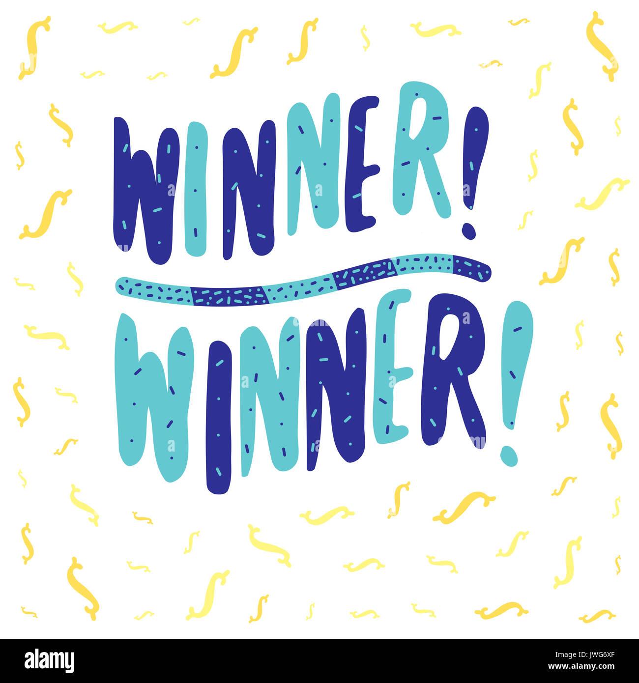 winner winner banner vector lettering stock photo 153406023 alamy