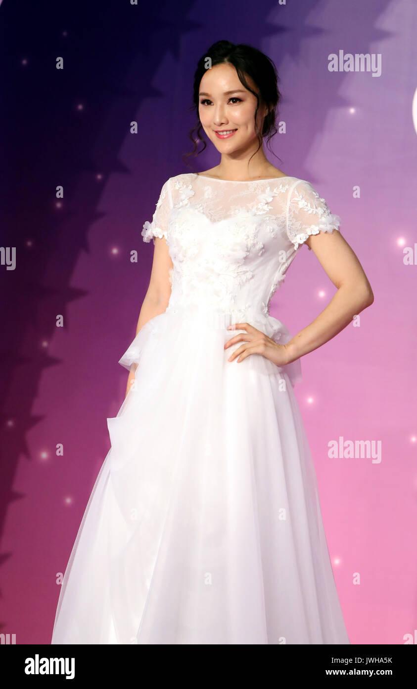 Hong Kong, China. 12th Aug, 2017. A model presents wedding dress ...