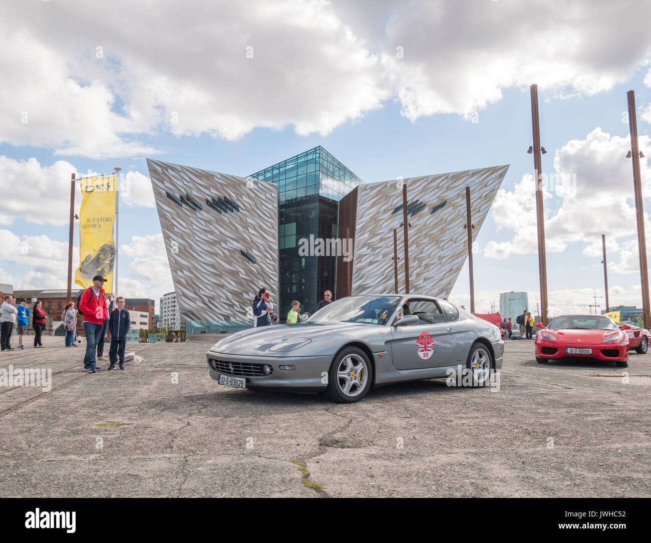 Belfast, Northern Ireland, UK, 12 August 2017. Ferrari cars old and ...