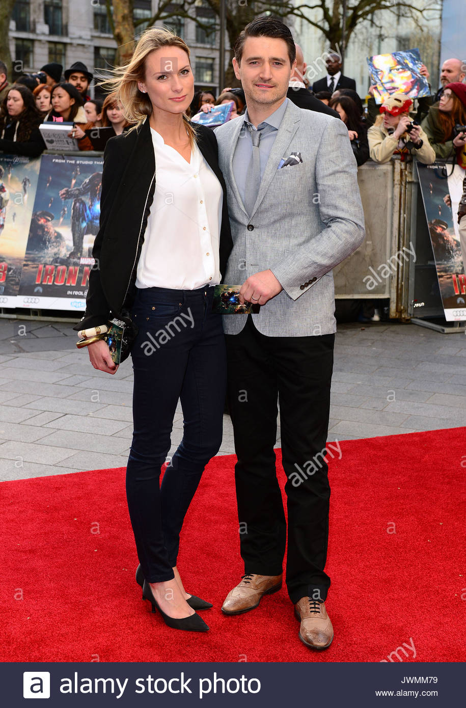 Clare Harding and Tom Chambers Iron Man 3 Special Screening at