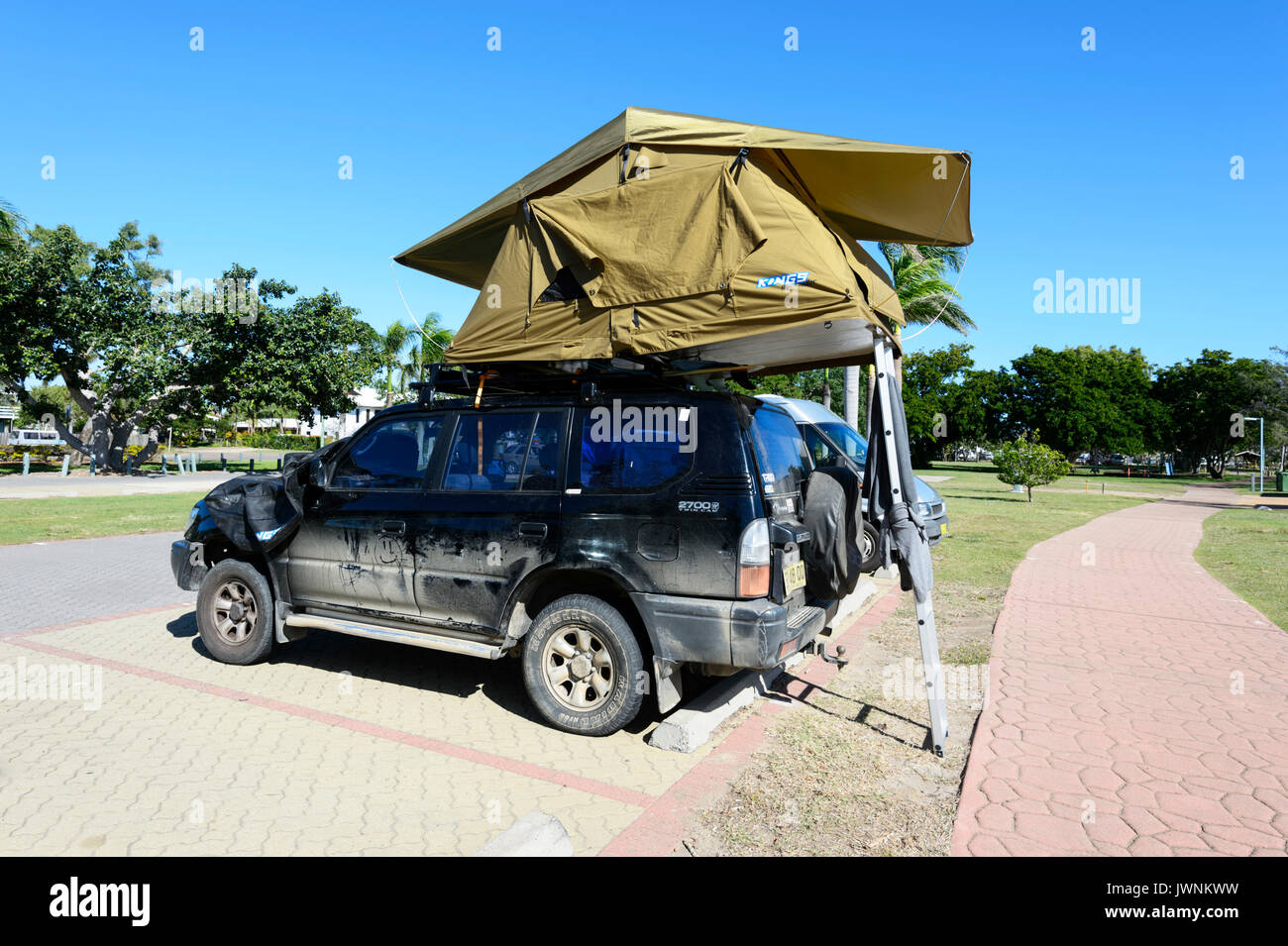 Toyota Prado with a tent on the roof Australia & Toyota Prado with a tent on the roof Australia Stock Photo ...