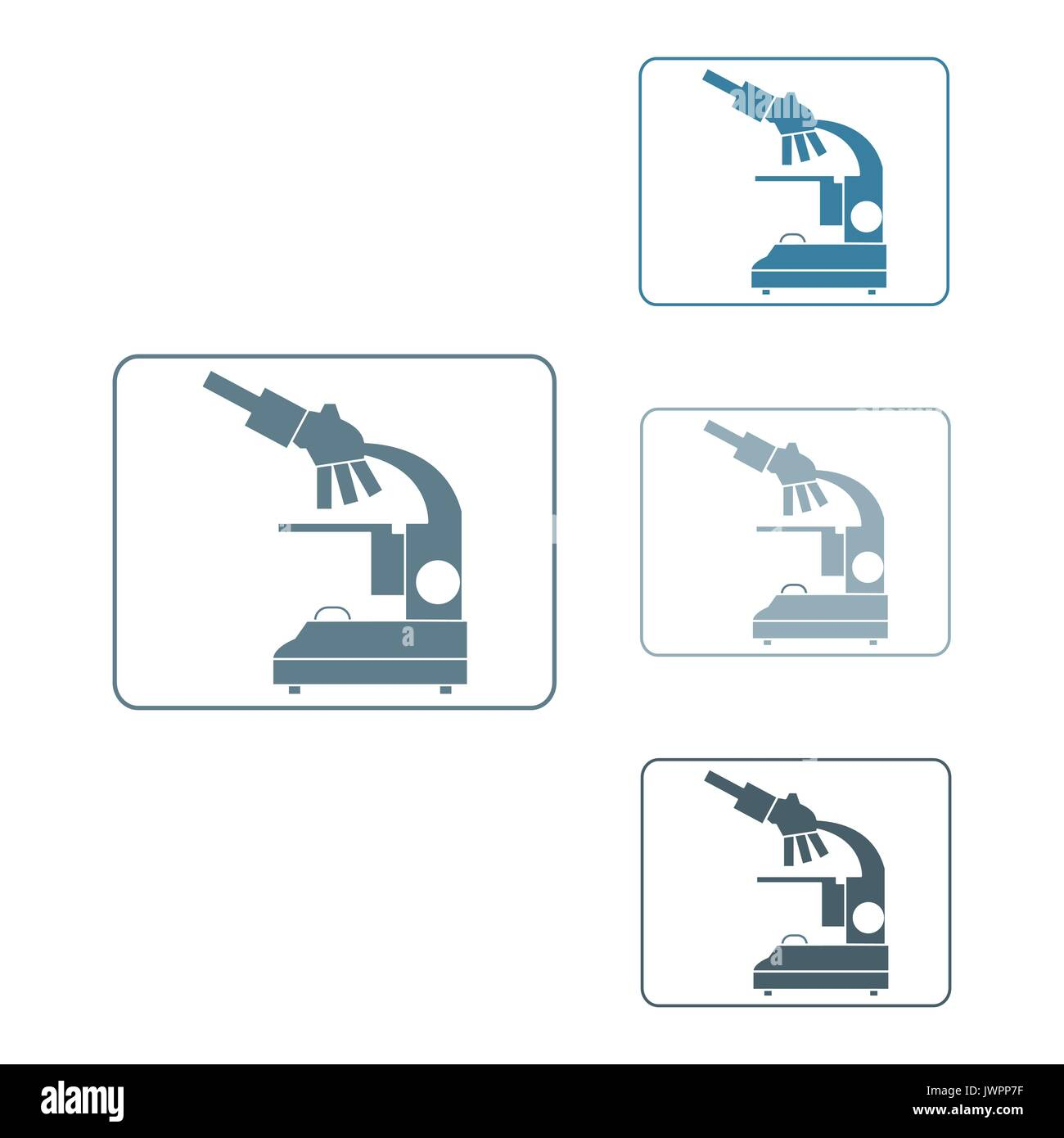 Stylized vector icons of microscope in different colors stylized vector icons of microscope in different colors magnifying device sign laboratory equipment symbol buycottarizona