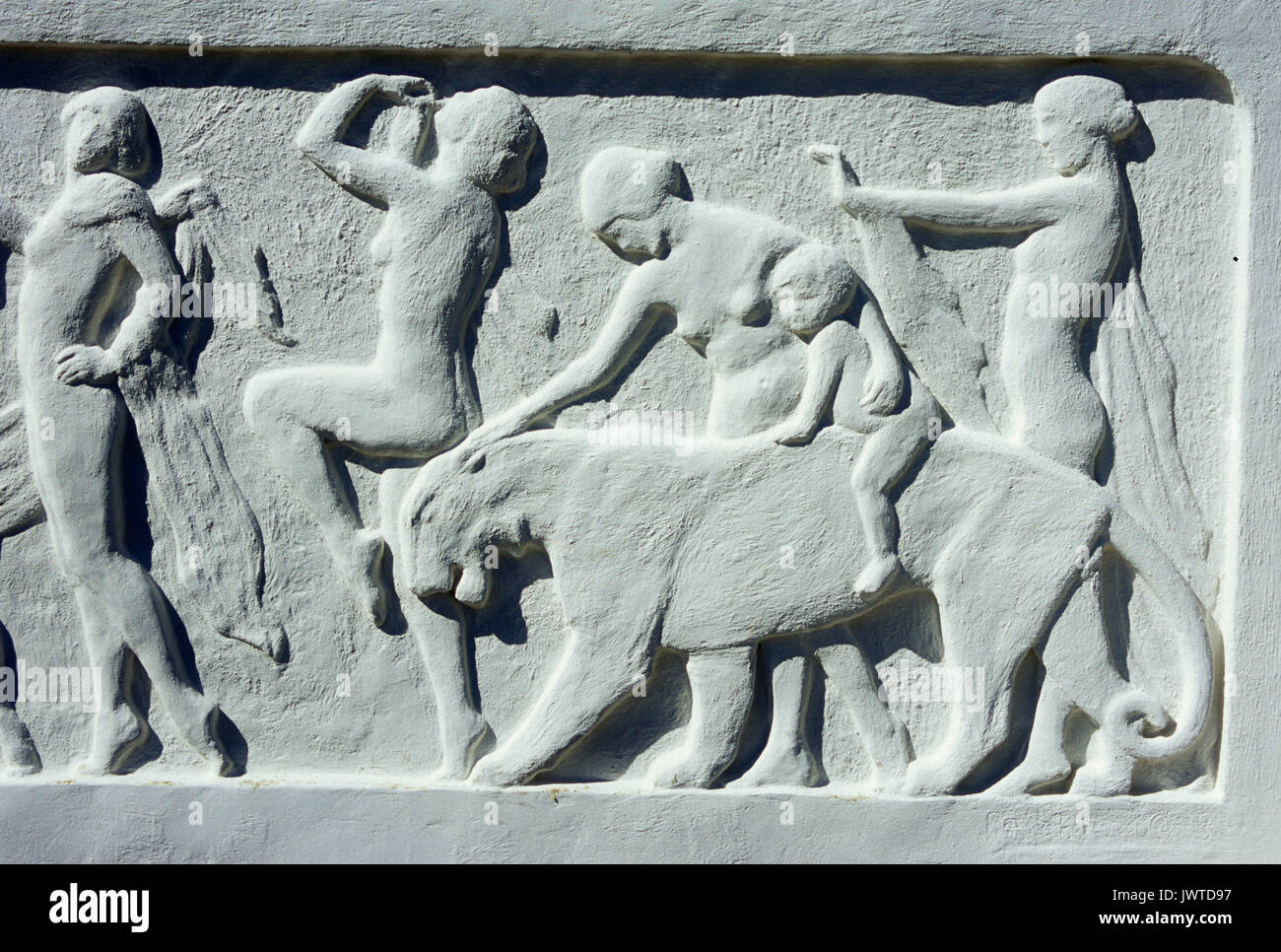 Art Deco 1924 Bas Relief sculpture at reflecting pool, Woodland Park ...