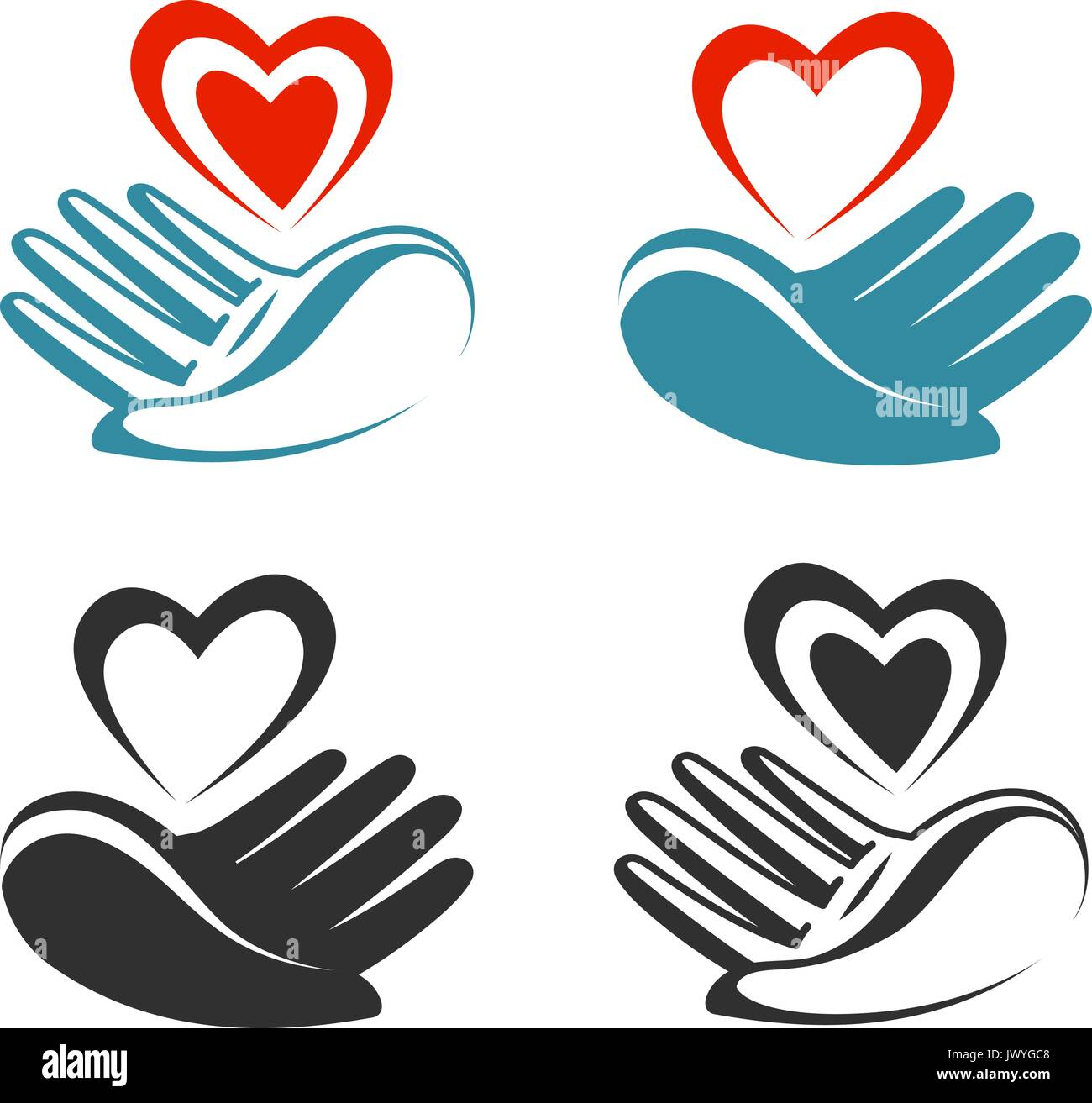 Health donation charity logo or label hand holding heart health donation charity logo or label hand holding heart symbol vector illustration biocorpaavc