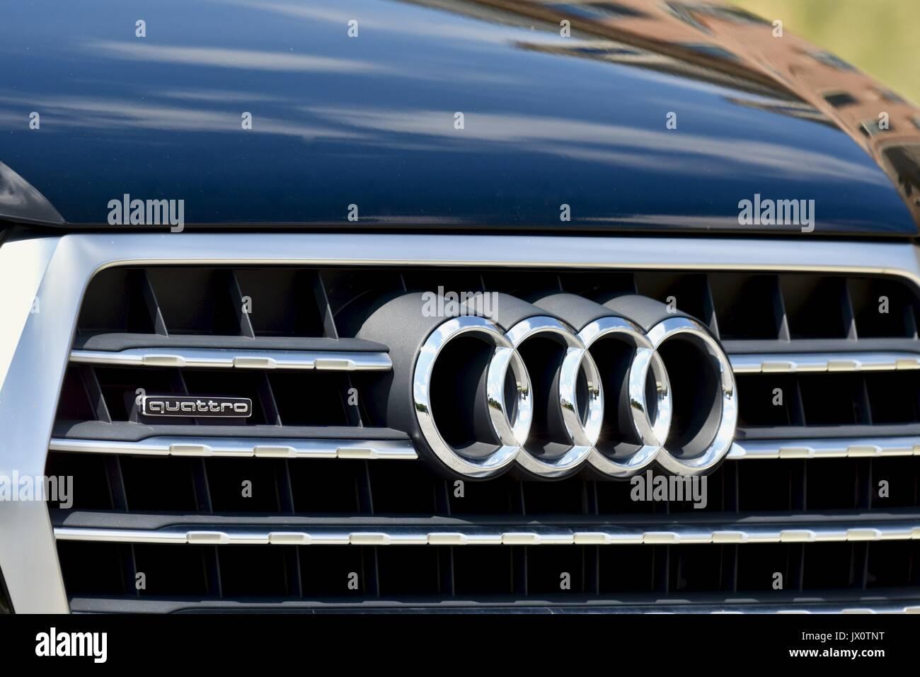 Audi Symbol Stock Photos Audi Symbol Stock Images Alamy - Audi car symbol
