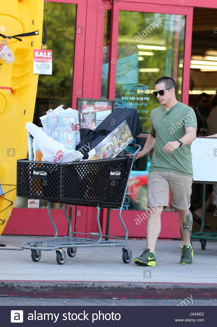 Casper Smart was out and about today shopping for c&ing supplies and work out gear at Sport Chalet. He purchased a tent as well as a UFC punching bag ... & Casper Smart. Casper Smart was out and about today shopping for ...