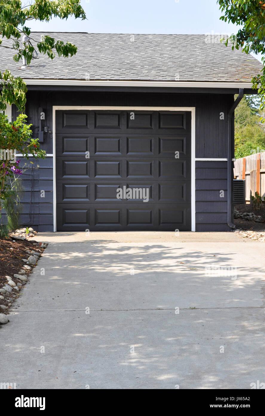 Garage door exterior stock photos garage door exterior for 1 car garage door