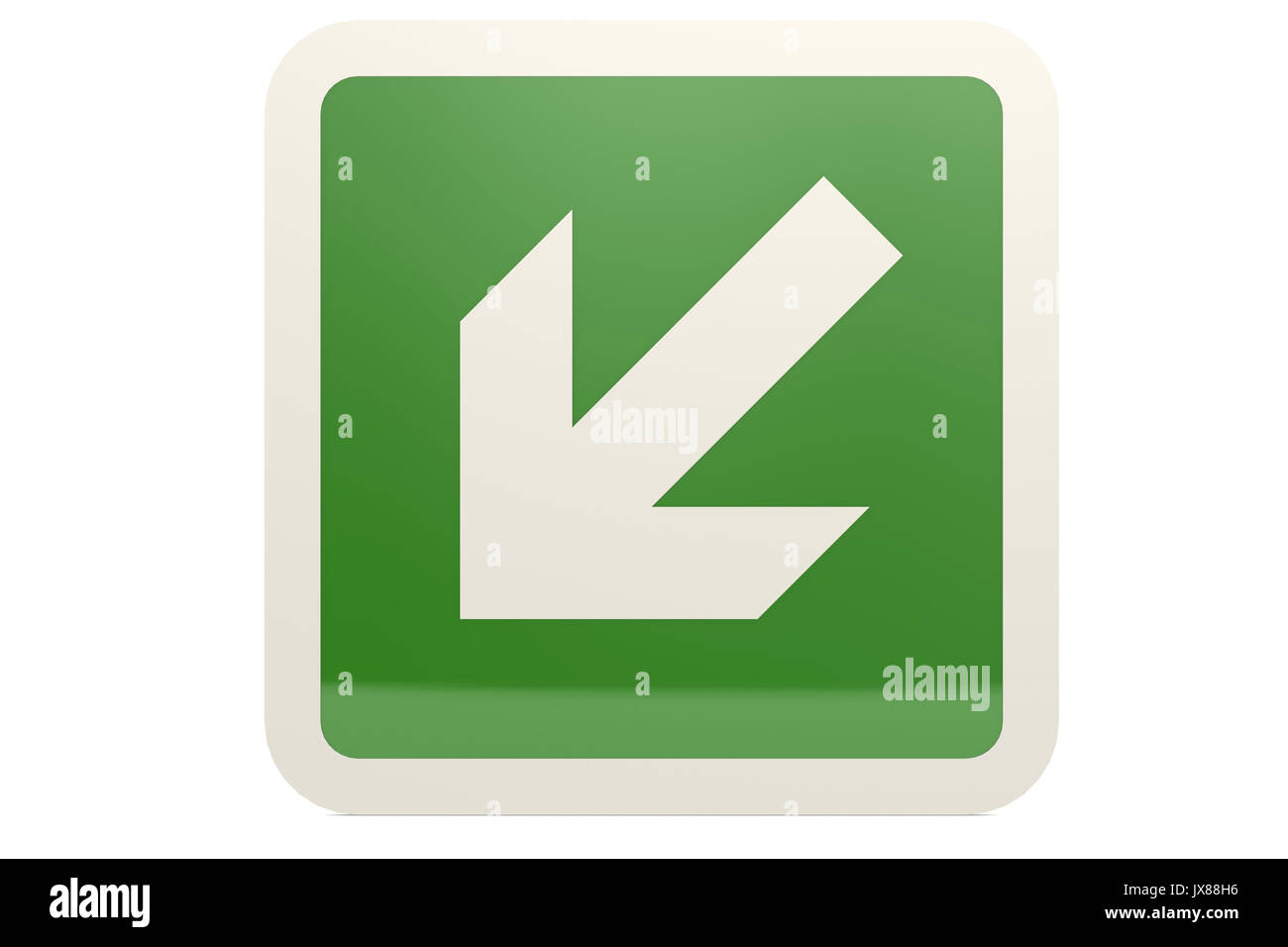 Down arrow icon internet button stock photos down arrow icon green down left arrow sign image 3d rendering stock image biocorpaavc Choice Image
