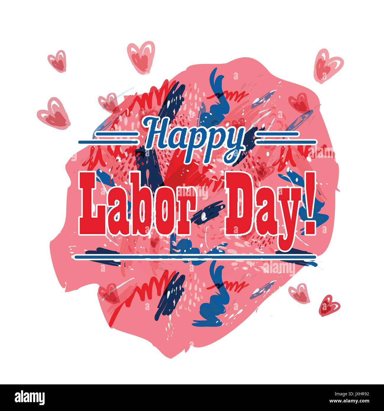 Holiday Greetings Illustration Labor Day Stock Vector Art