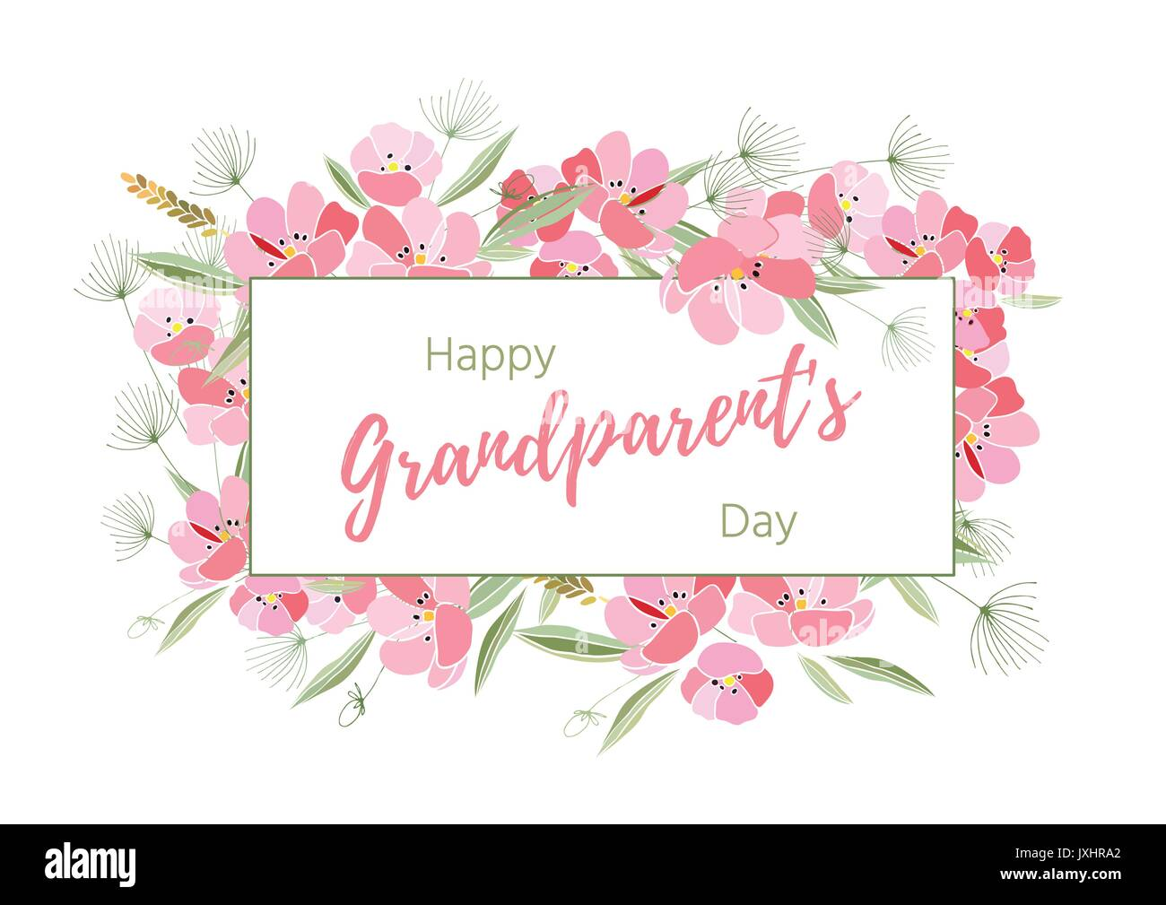 Colorful drawing grandparents day card stock photos colorful holiday greetings illustration grandparents day stock image kristyandbryce Gallery