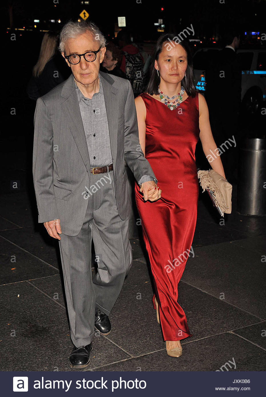 Woody Allen and Soon Yi Previn. Hugo Boss celebrates Columbus Circle ...