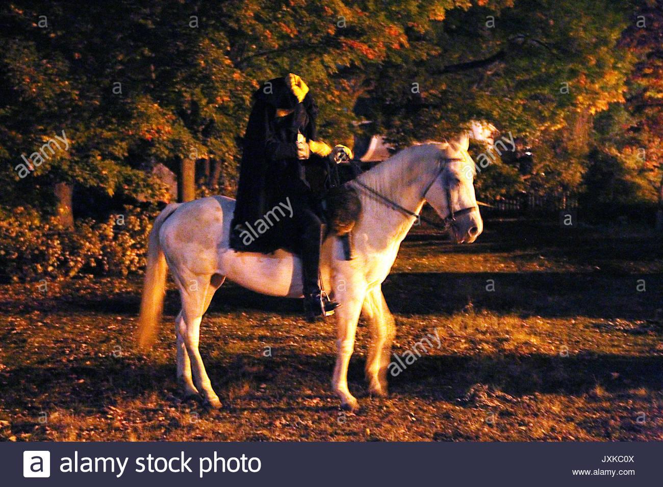 The Headless Horseman. Events surrounding Halloween in Sleepy ...