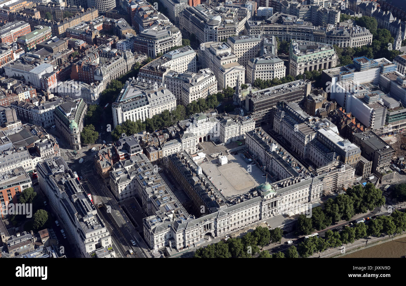 Registry of births stock photos registry of births stock images aerial view of somerset house on strand london uk stock image aiddatafo Choice Image