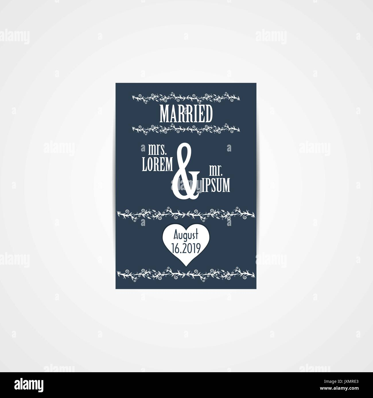 Wedding invitation card vector illustration eps file stock vector wedding invitation card vector illustration eps file stopboris Choice Image