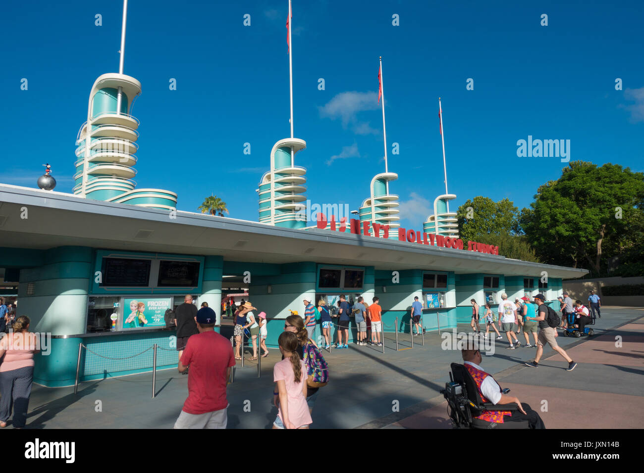 entrance to hollywood studios theme park walt disney world stock