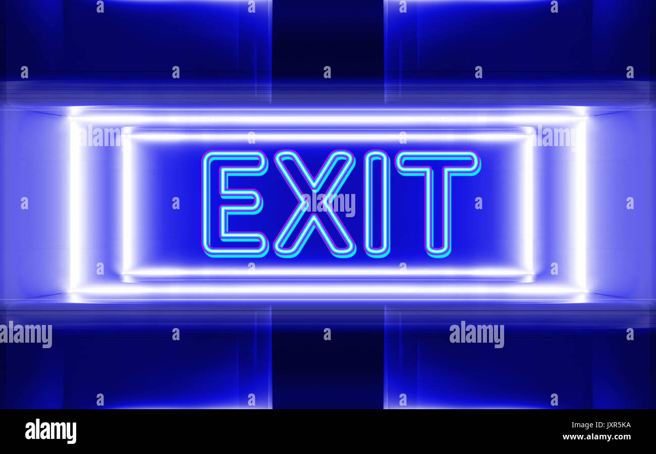 Stock footage welcome to fabulous las vegas sign with flashing lights - Highly Technological Design Of The Neon Sign Of Exit Stock Image