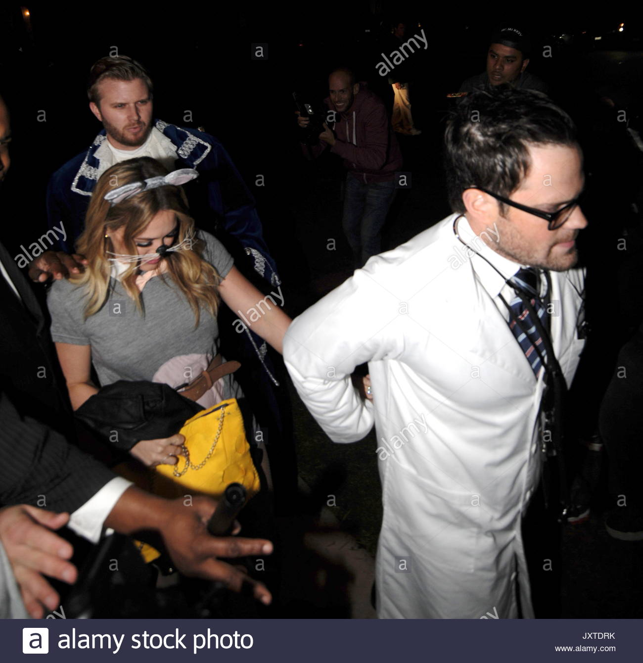 Hilary Duff and Mike Comrie. Halloween party attendees in Beverly ...