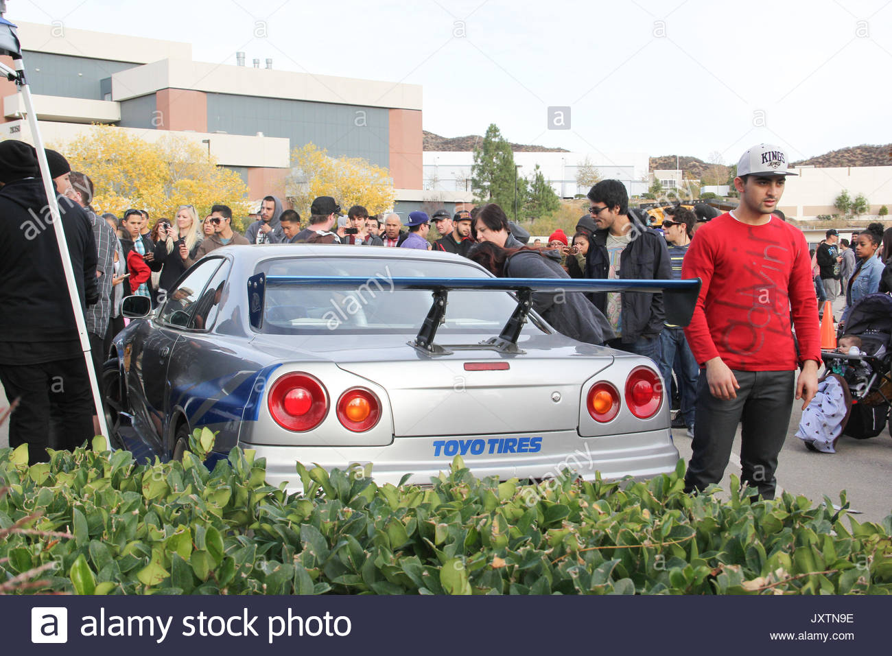 paul walker memorial. paul walker's 'fast and furious' cars attract