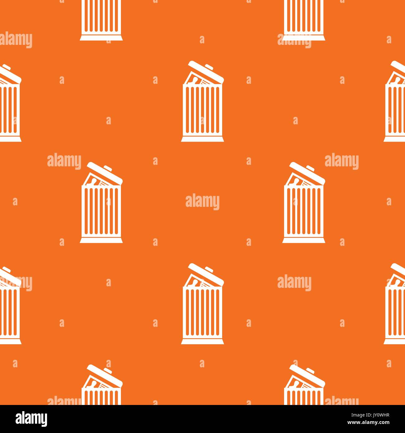 resume thrown away in the trash can pattern seamless stock vector