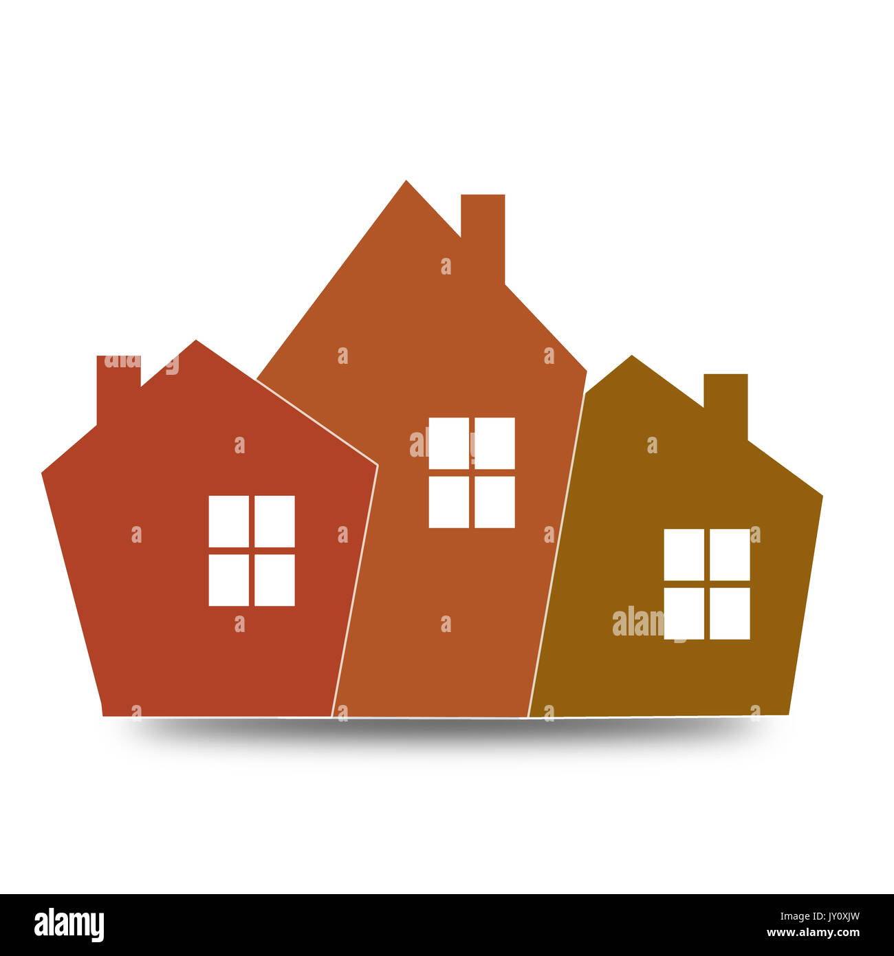 orange house icon image with hi res rendered artwork that could be