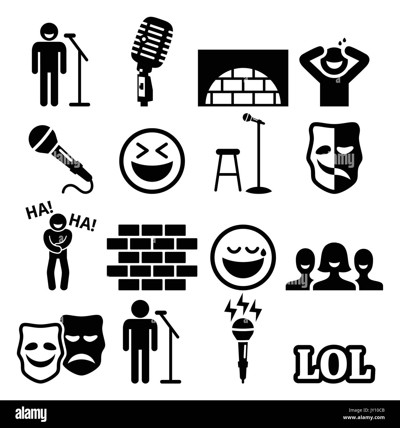 Comedy: The Gallery For --> Stand Up Comedy Brick Wall