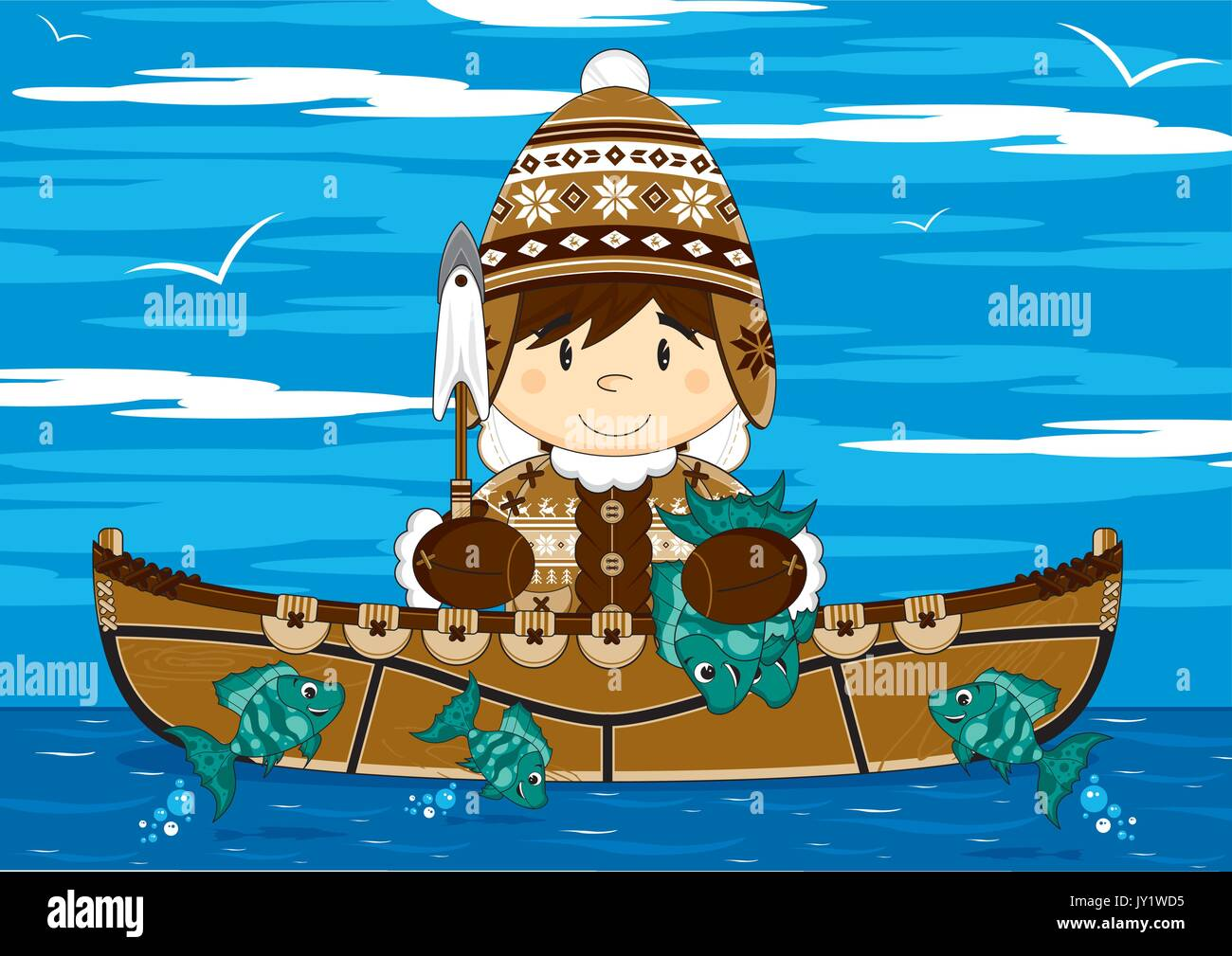 Fisherman Boat (cartoon) Stock Photos & Fisherman Boat ...