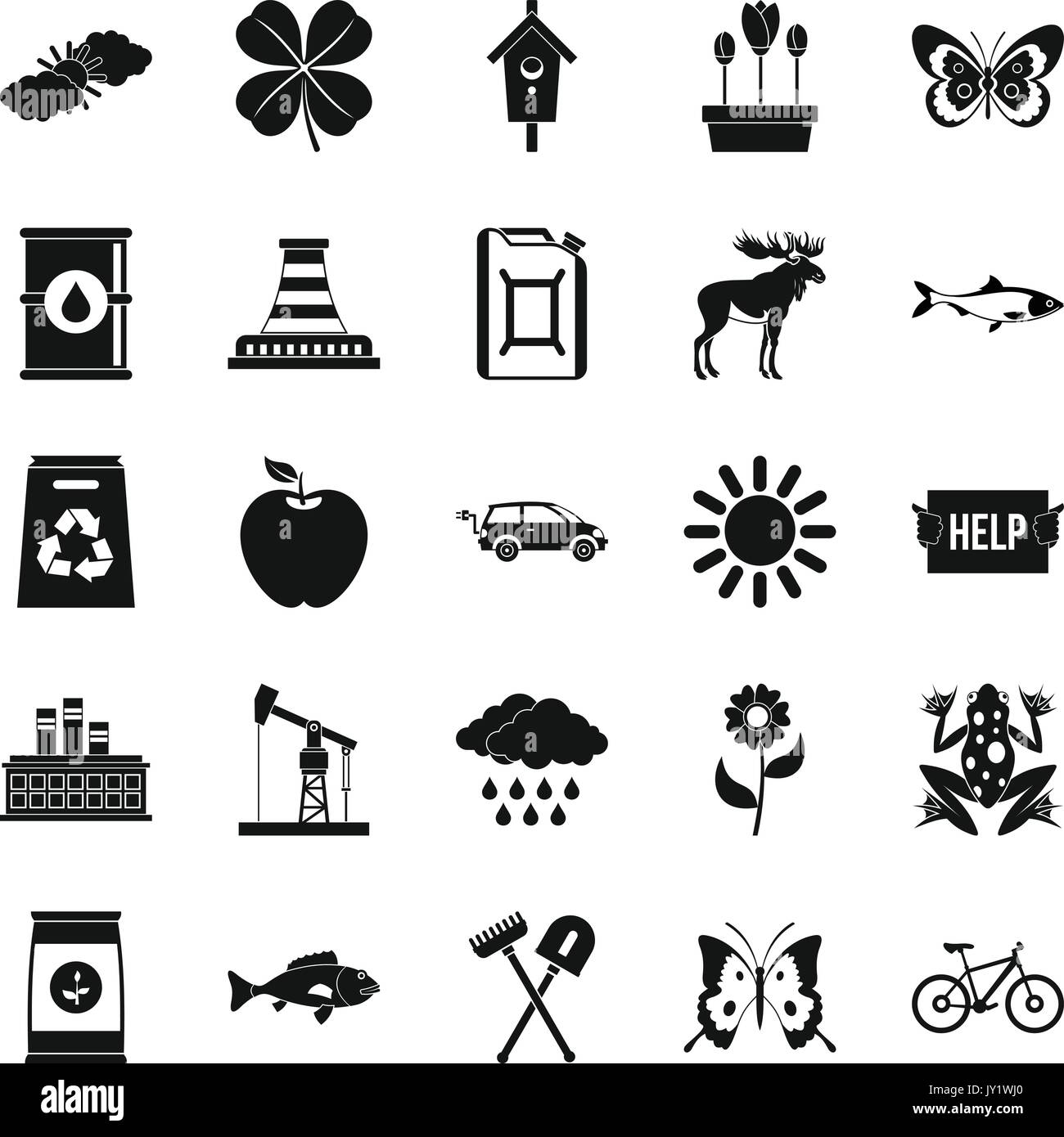 Natural resources stock vector images alamy natural resources icons set simple style stock vector buycottarizona