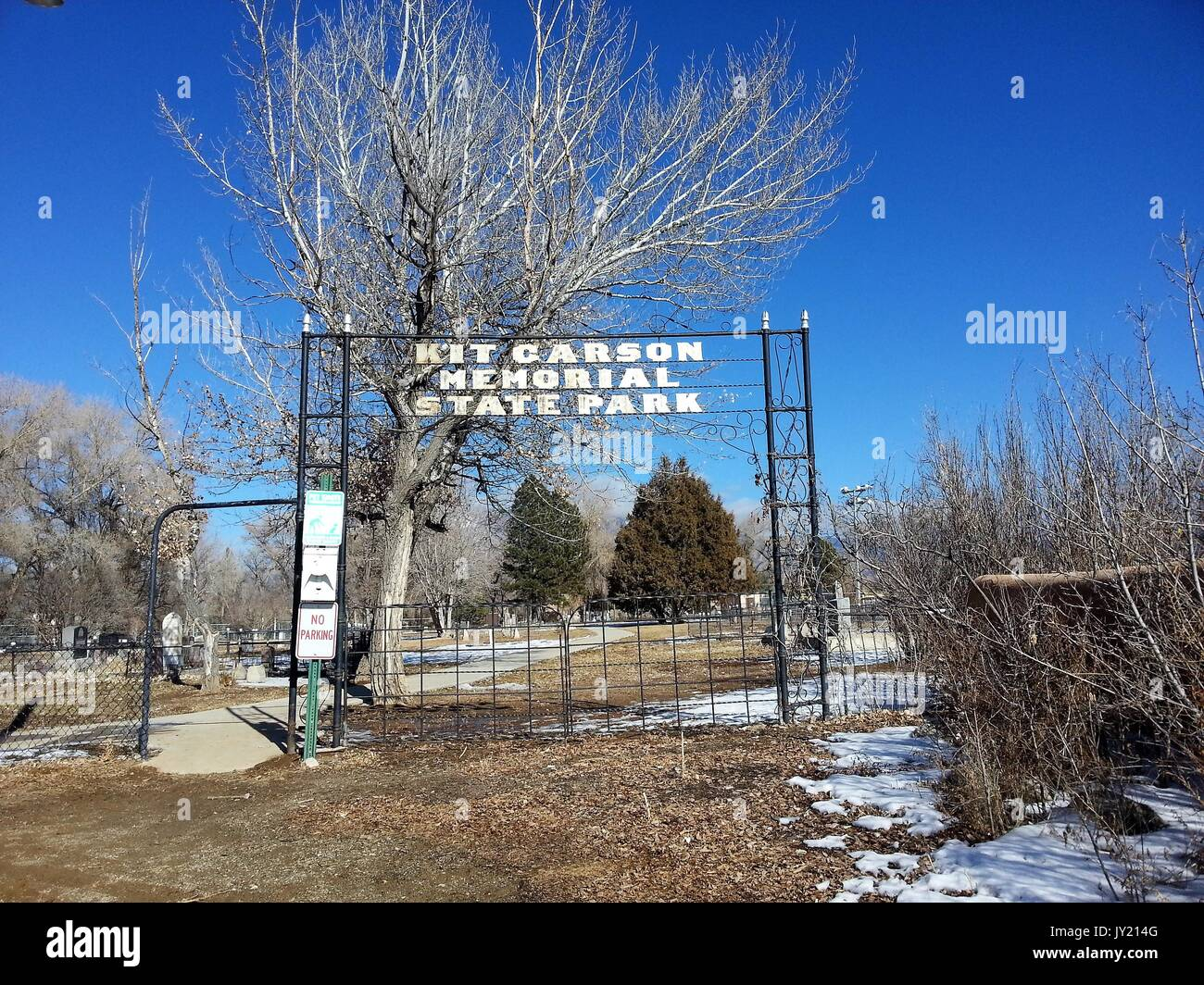 New mexico taos county carson - Kit Carson Home And Museum New Mexico Stock Image