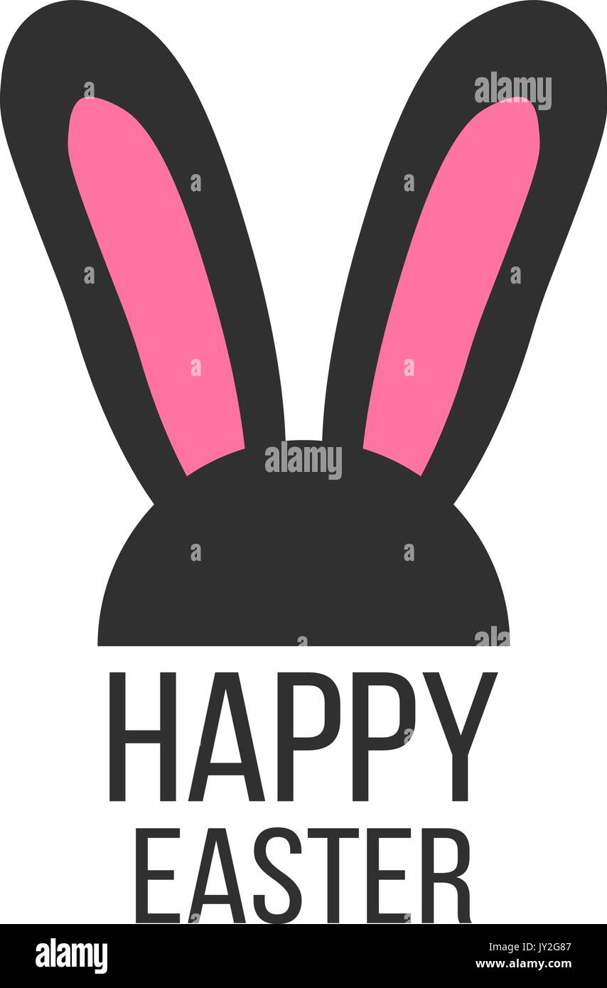 black and pink rabbit ears icon Stock Vector Art & Illustration ...