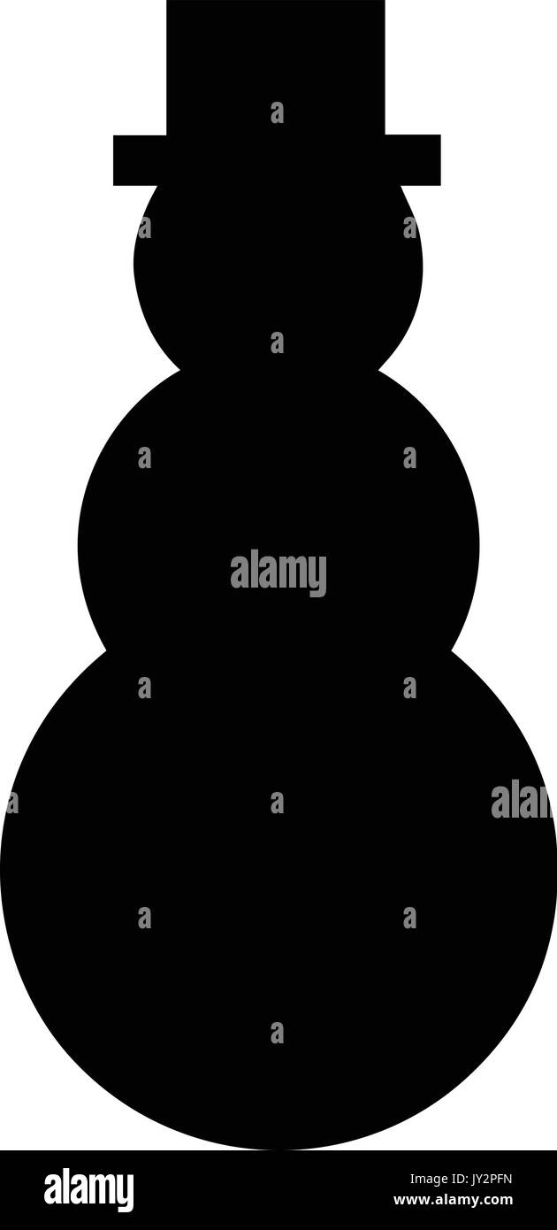 A black and white silhouette of a snowman in a top hat stock vector a black and white silhouette of a snowman in a top hat buycottarizona Gallery