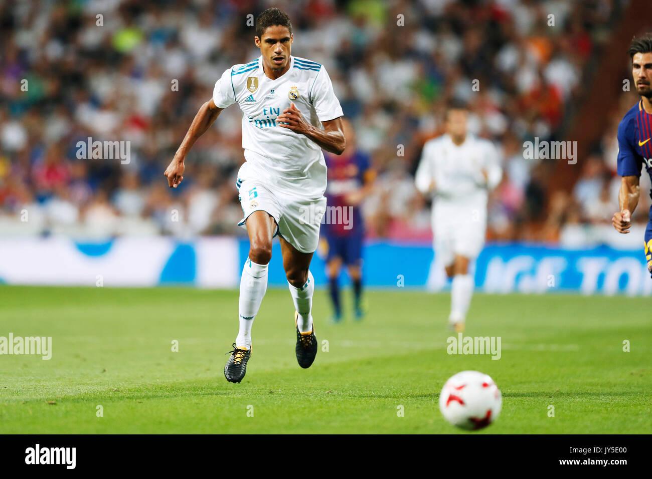 Madrid Spain Credit D 16th Aug 2017 Raphael Varane Real
