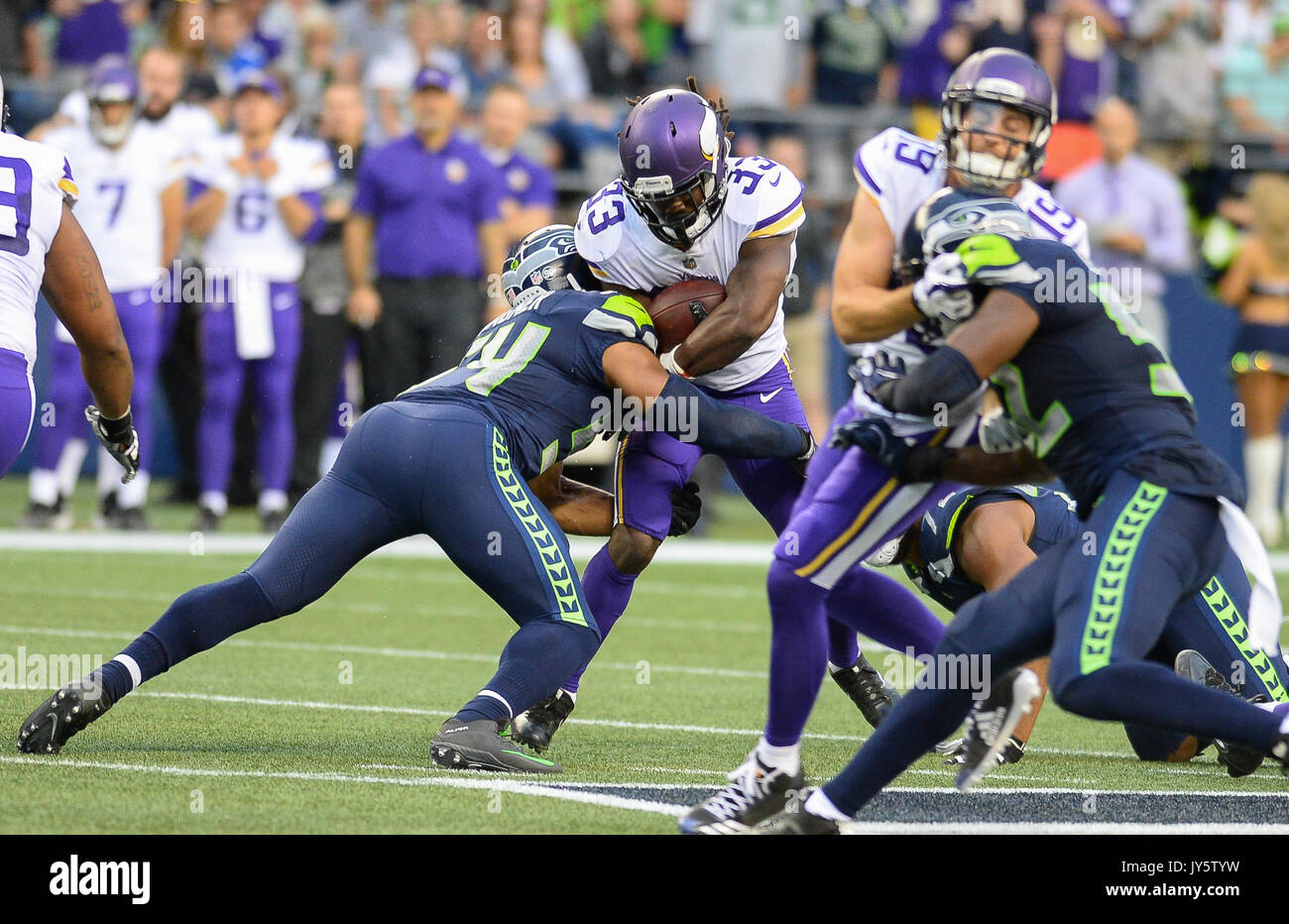 August 18 2017 Seattle linebacker Bobby Wagner 54 make the