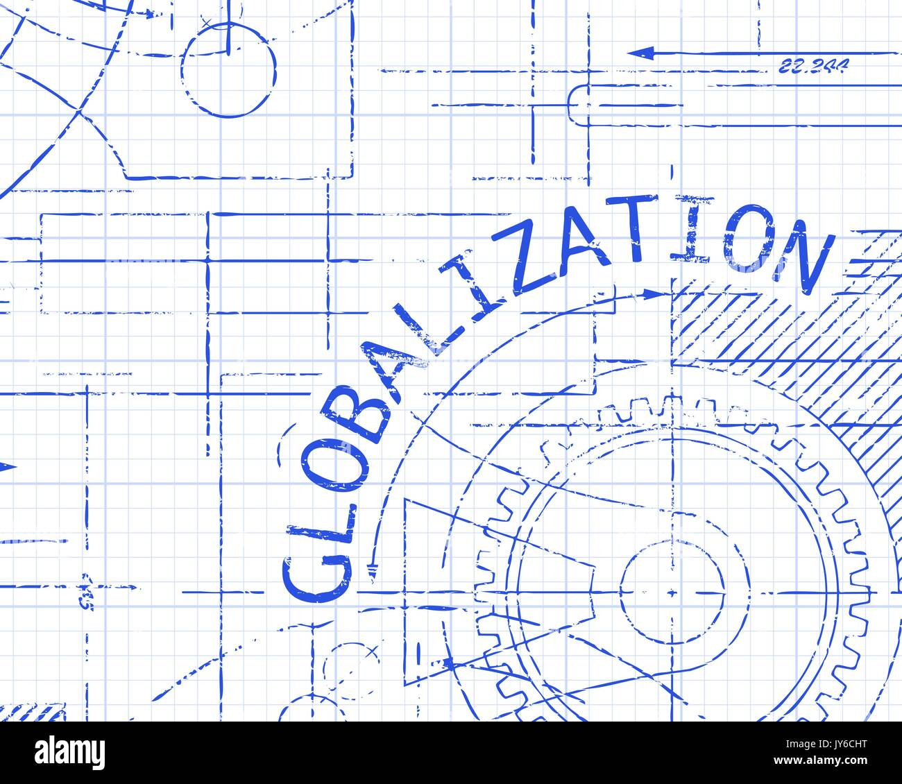 Globalization word on graph paper background illustration stock globalization word on graph paper background illustration ccuart Gallery